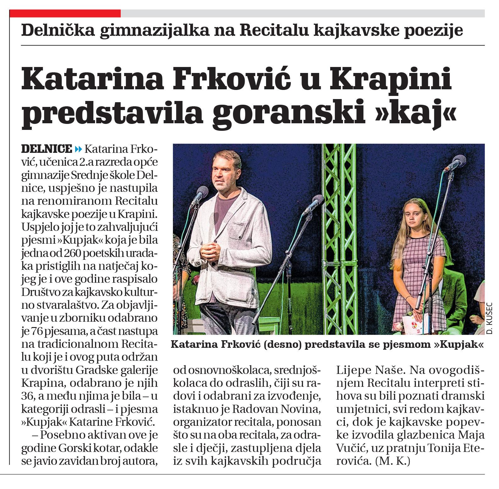 članak novi list, katarina frković