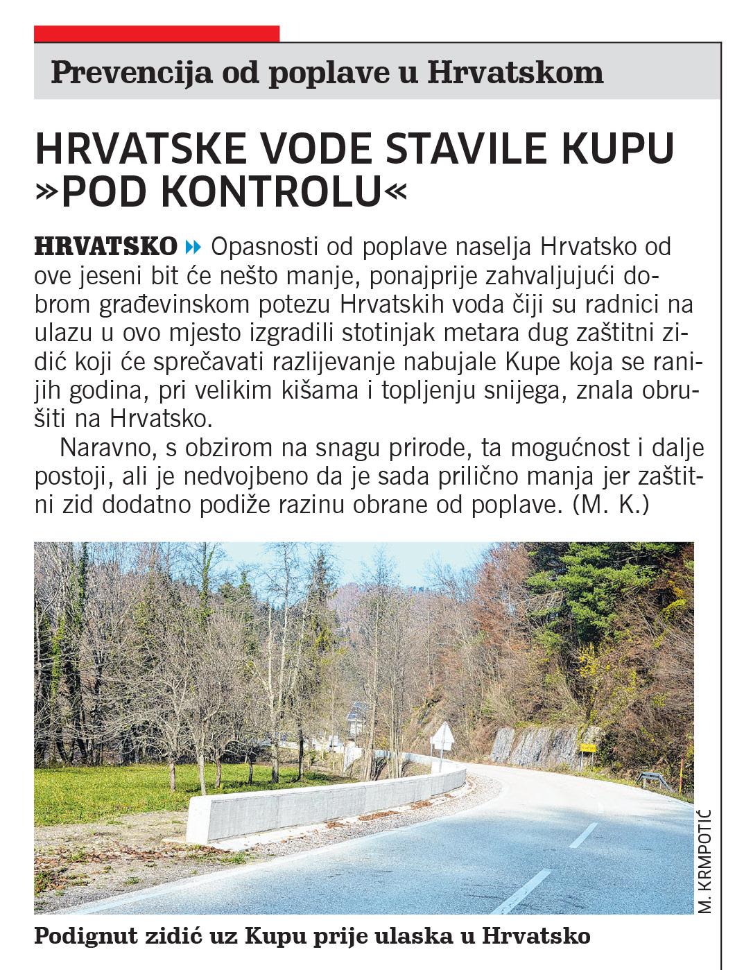 članak, novi list, hrvatsko, hrvatske vode, zid