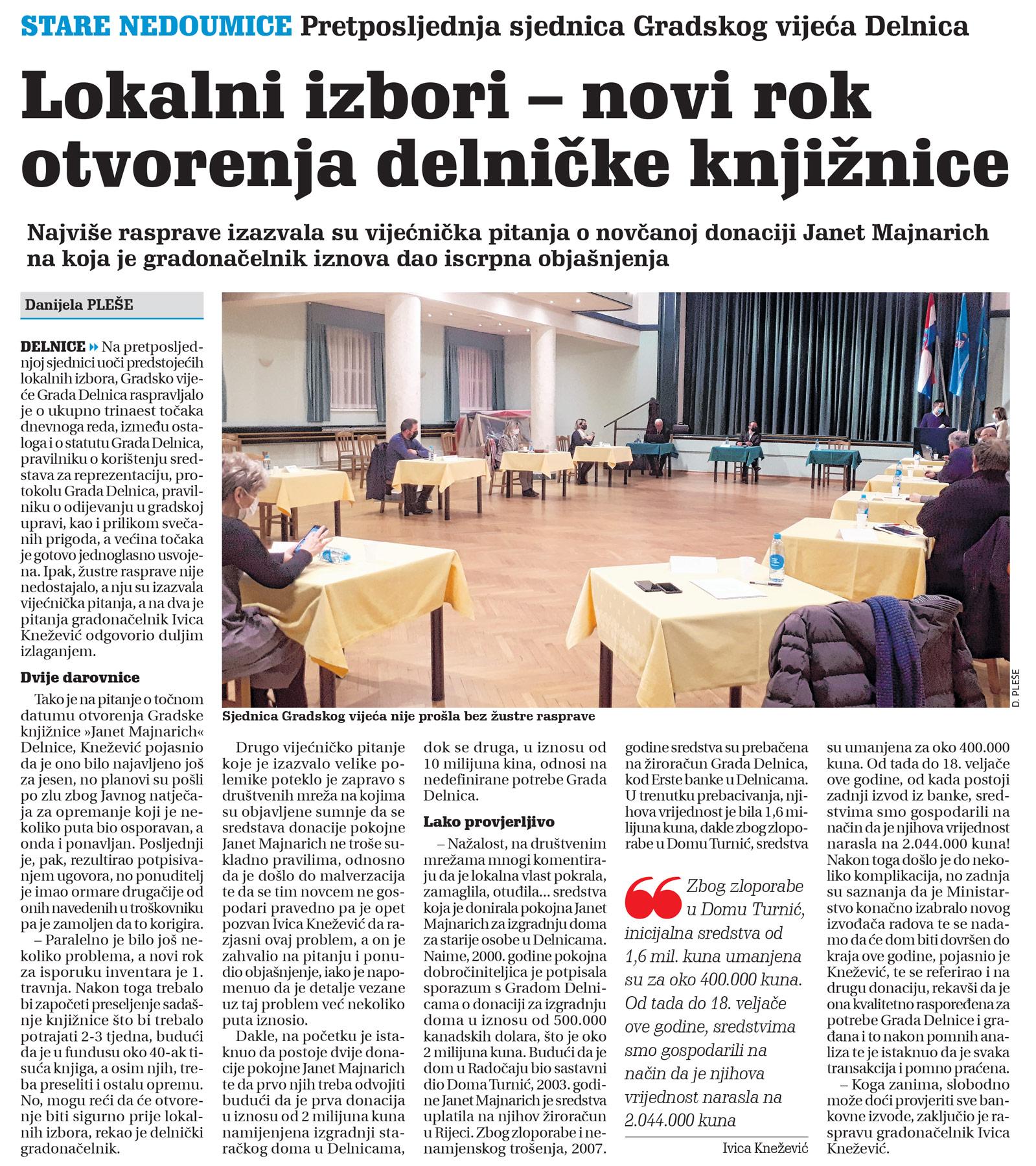 članak novi list, lokalni izbori