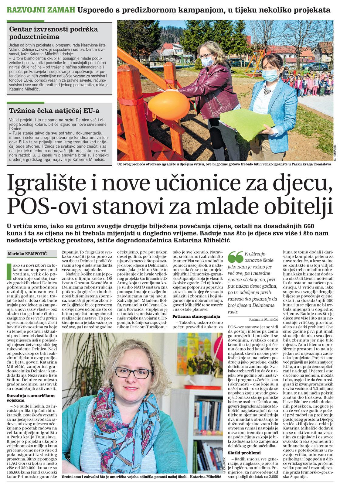 članak, goranski novi list, katarina mihelčić