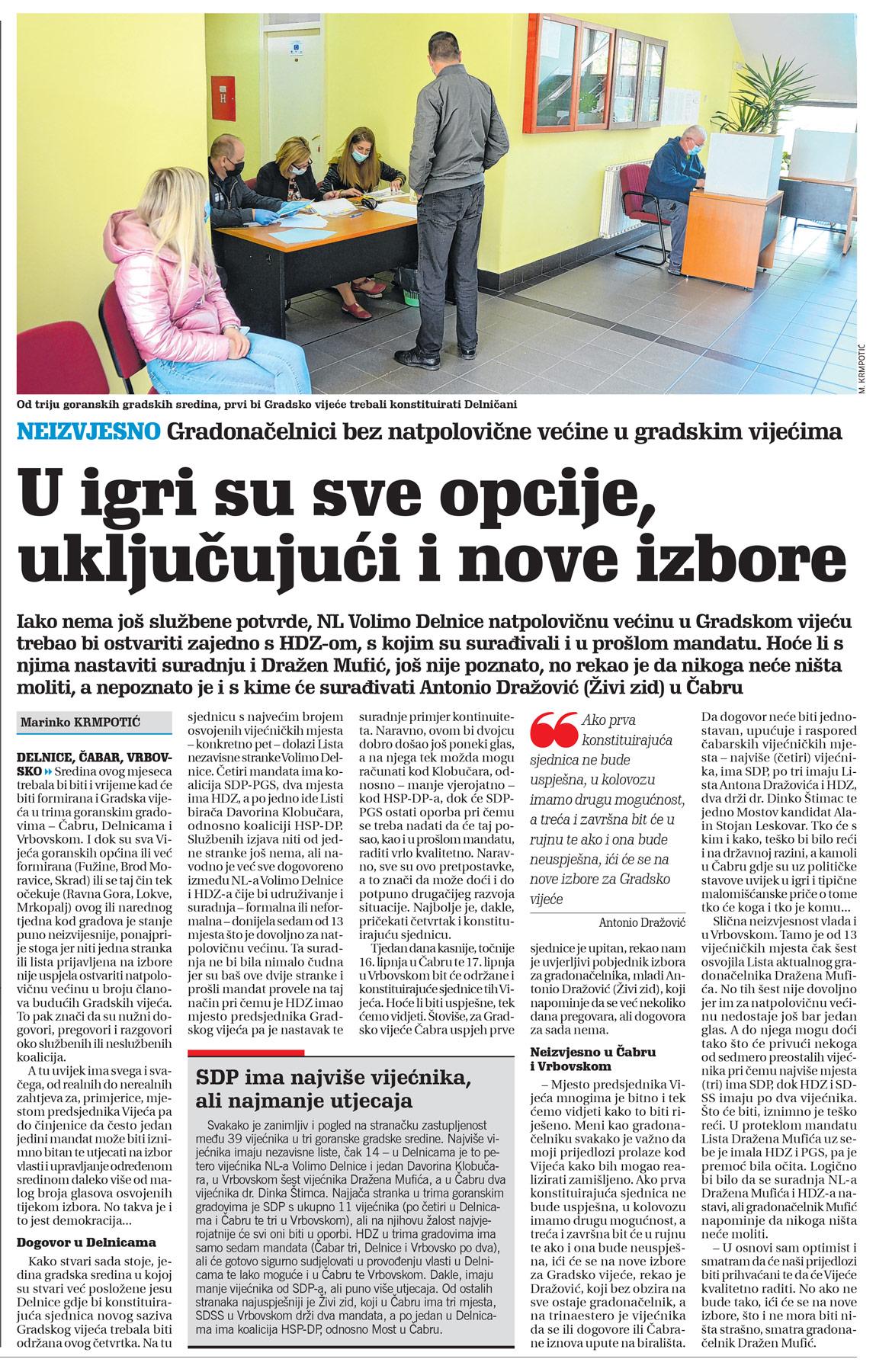 članak, novi list, lokalni izbori
