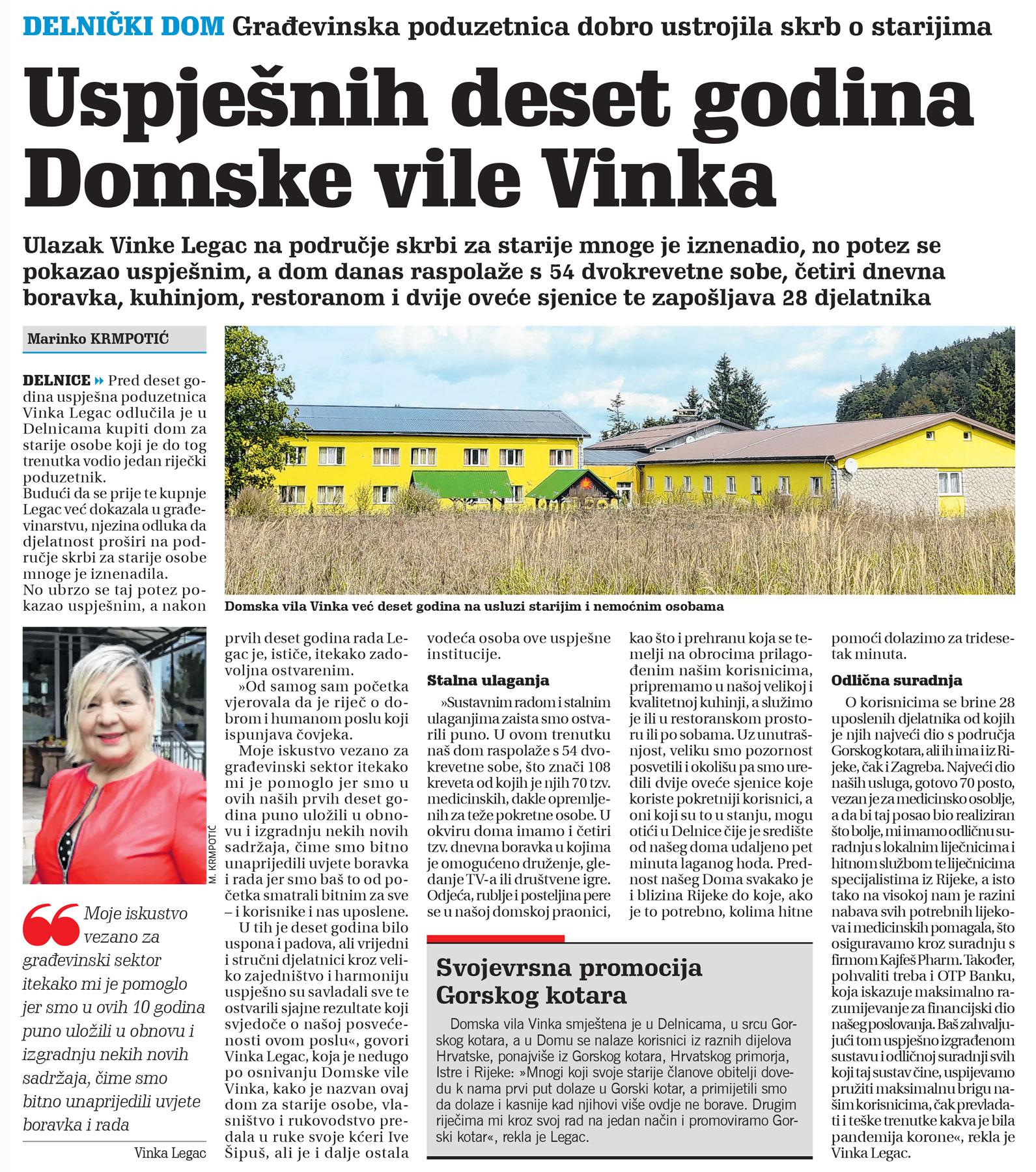 članak, novi list, starački dom