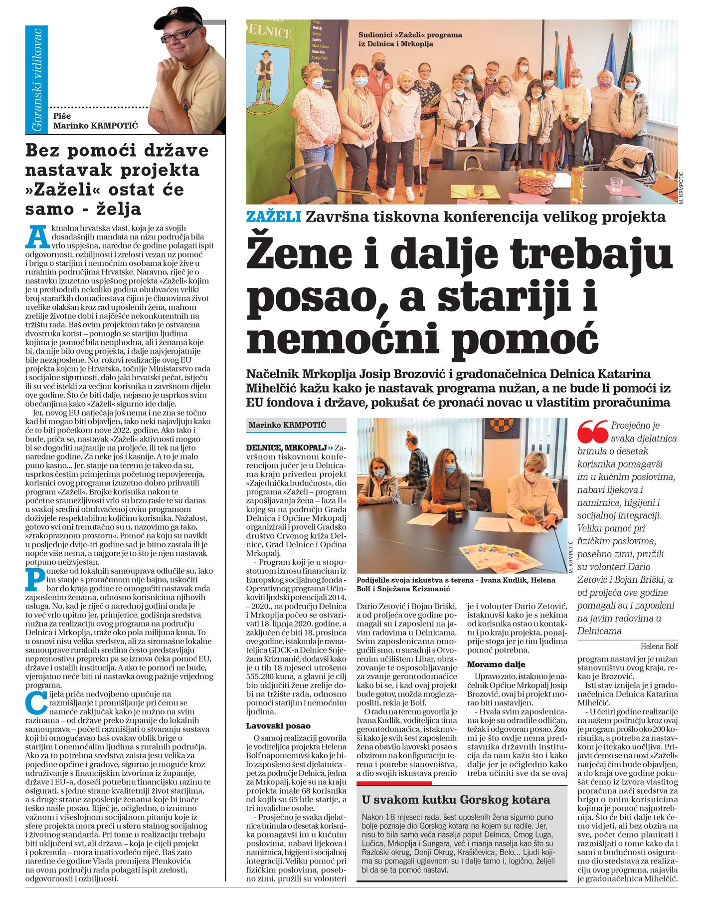 članak, novi list, program zeželi